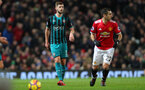 MANCHESTER, ENGLAND - DECEMBER 30: Southampton's Jack Stephens during the Premier League match between Manchester United and Southampton at Old Trafford on December 30, 2017 in Manchester, England. (Photo by Matt Watson/Southampton FC via Getty Images)
