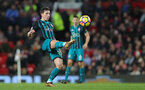 MANCHESTER, ENGLAND - DECEMBER 30: Southampton's Pierre-Emile Hojbjerg during the Premier League match between Manchester United and Southampton at Old Trafford on December 30, 2017 in Manchester, England. (Photo by Matt Watson/Southampton FC via Getty Images)