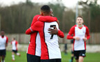 SOUTHAMPTON, ENGLAND - JANUARY 06: Harlem Hale scores during the U18 PL match between Southampton FC and West Ham United FC at Staplewood Complex on January 6, 2018 in Southampton, England. (Photo by James Bridle - Southampton FC/Southampton FC via Getty Images)