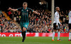 LONDON, ENGLAND - JANUARY 06: James Ward-Prowse of Southampton celebrates during the Emirates FA Cup third round match between Fulham FC and Southampton FC at Craven Cottage on January 6, 2018 in London, England. (Photo by Matt Watson/Southampton FC via Getty Images)