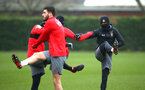 SOUTHAMPTON, ENGLAND - JANUARY 11: Nathan Redmond (right) during a Southampton FC training session at Staplewood Complex on January 11, 2018 in Southampton, England. (Photo by James Bridle - Southampton FC/Southampton FC via Getty Images)
