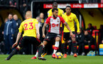 WATFORD, ENGLAND - JANUARY 13: Ryan Bertrand of Southampton during the Premier League match between Watford and Southampton at Vicarage Road on January 13, 2018 in Watford, England. (Photo by Matt Watson/Southampton FC via Getty Images)