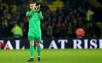 WATFORD, ENGLAND - JANUARY 13: Alex McCarthy of Southampton during the Premier League match between Watford and Southampton at Vicarage Road on January 13, 2018 in Watford, England. (Photo by Matt Watson/Southampton FC via Getty Images)