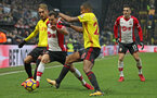 WATFORD, ENGLAND - JANUARY 13: Cedric of Southampton during the Premier League match between Watford and Southampton at Vicarage Road on January 13, 2018 in Watford, England. (Photo by Matt Watson/Southampton FC via Getty Images)