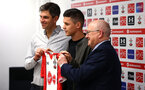 SOUTHAMPTON, ENGLAND - JANUARY 25: Southampton FC sign Guido Carrillo from AS Monaco on a contract until June 2021, pictured at the Staplewood Campus on January 25, 2018 in Southampton, England. (Photo by James Bridle / Southampton FC via Getty Images)