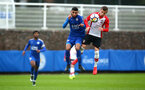 SOUTHAMPTON, ENGLAND - JANUARY 27: Kornelius Hansen (right) during the match between Southampton FC and Leicester FC U18s at Leicester FC Training ground on January 27, 2018 in Southampton, England. (Photo by James Bridle / Southampton FC via Getty Images)