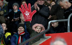 SOUTHAMPTON, ENGLAND - JANUARY 27: fans of Southampton FC during the FA Cup 4th round match between Southampton FC and Watford, at St Mary's Stadium on January 27, 2018 in Southampton, England. (Photo by Matt Watson/Southampton FC via Getty Images)