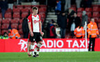 SOUTHAMPTON, ENGLAND - JANUARY 31: James Ward-Prowse of Southampton FC dejected during the Premier League match between Southampton and Brighton and Hove Albion at St Mary's Stadium on January 31, 2018 in Southampton, England. (Photo by Matt Watson/Southampton FC via Getty Images)