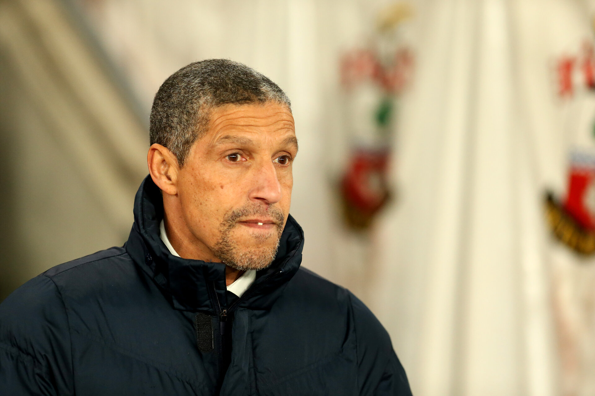 SOUTHAMPTON, ENGLAND - JANUARY 31: Chris Hughton during the Premier League match between Southampton and Brighton and Hove Albion at St Mary's Stadium on January 31, 2018 in Southampton, England. (Photo by Chris Moorhouse/Southampton FC via Getty Images)