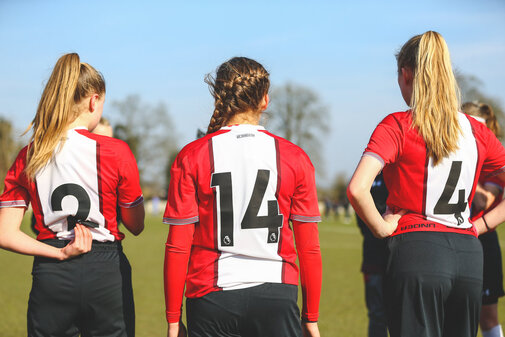 SOUTHAMPTON, ENGLAND - FEBRUARY 24: Southampton FC U16 Girls Team vs Reading FC in a Friendly match at Reading FAB Training Ground on February 24, 2018 in Southampton, England. (Photo by James Bridle - Southampton FC/Southampton FC via Getty Images)