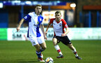 SOUTHAMPTON, ENGLAND - FEBRUARY 26: Jake Vokins (right) during the U23s match between Southampton FC and Blackburn FC, PLCup match on February 26, 2018 in Leyland in Blackburn, England. (Photo by James Bridle - Southampton FC/Southampton FC via Getty Images)