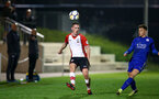 SOUTHAMPTON, ENGLAND - MARCH 16: Ben Rowthorn (left) during the U23's match between Southampton FC and Leicester City FC at Staplewood Complex on March 16, 2018 in Southampton, England. (Photo by James Bridle - Southampton FC/Southampton FC via Getty Images)