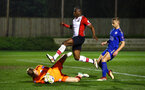 SOUTHAMPTON, ENGLAND - MARCH 16: Michael Obafemi (middle) during the U23's match between Southampton FC and Leicester City FC at Staplewood Complex on March 16, 2018 in Southampton, England. (Photo by James Bridle - Southampton FC/Southampton FC via Getty Images)