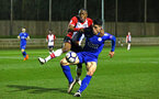 SOUTHAMPTON, ENGLAND - MARCH 16: Michael Obafemi (left) during the U23's match between Southampton FC and Leicester City FC at Staplewood Complex on March 16, 2018 in Southampton, England. (Photo by James Bridle - Southampton FC/Southampton FC via Getty Images)