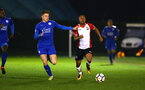 SOUTHAMPTON, ENGLAND - MARCH 16: Tyreke Johnson (right) during the U23's match between Southampton FC and Leicester City FC at Staplewood Complex on March 16, 2018 in Southampton, England. (Photo by James Bridle - Southampton FC/Southampton FC via Getty Images)