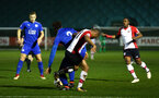 SOUTHAMPTON, ENGLAND - MARCH 16: Tyreke Johnson (Middle) during the U23's match between Southampton FC and Leicester City FC at Staplewood Complex on March 16, 2018 in Southampton, England. (Photo by James Bridle - Southampton FC/Southampton FC via Getty Images)