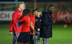 SOUTHAMPTON, ENGLAND - MARCH 16: Radhi Jaidi (right) ahead of the U23's match between Southampton FC and Leicester City FC at Staplewood Complex on March 16, 2018 in Southampton, England. (Photo by James Bridle - Southampton FC/Southampton FC via Getty Images)