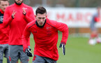 SOUTHAMPTON, ENGLAND - MARCH 20: Pierre-Emile Hojbjerg during a Southampton FC training session at the Staplewood Campus on March 20, 2018 in Southampton, England. (Photo by Matt Watson/Southampton FC via Getty Images)