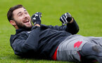SOUTHAMPTON, ENGLAND - MARCH 29: Charlie Austin during a Southampton FC training session at the Staplewood Campus on March 29, 2018 in Southampton, England. (Photo by Matt Watson/Southampton FC via Getty Images)