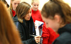 BURTON ON TRENT, ENGLAND - APRIL 03: during the Southampton FC U16 girls visit to England's Training ground at St Georges Park on April 03, 2018 in Burton on Trent, England. (Photo by James Bridle - Southampton FC/Southampton FC via Getty Images)