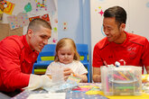 Gallery: Saints in hospital visit