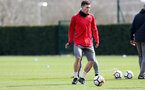 SOUTHAMPTON, ENGLAND - APRIL 06: Pierre-Emile Hojbjerg during a Southampton FC training session at the Staplewood Campus on April 6, 2018 in Southampton, England. (Photo by Matt Watson/Southampton FC via Getty Images)