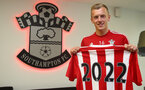 James Ward-Prowse signs a new long term deal at Southampton Football Club, pictured at the Staplewood Campus, Southampton, 13th May 2016