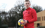 SOUTHAMPTON, ENGLAND - FEBRUARY 20: James Ward-Prowse of Southampton FC during free-kick tutorial at the Staplewood Campus on February 20, 2018 in Southampton, England. (Photo by Matt Watson/Southampton FC via Getty Images)