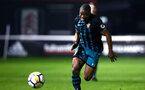 SOUTHAMPTON, ENGLAND - APRIL 13: Michael Obafemi (middle) during the PL2 Match between Fulham FC and Southampton FC on April 12, 2018 in Fulham London, England. (Photo by James Bridle - Southampton FC/Southampton FC via Getty Images)