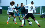 SOUTHAMPTON, ENGLAND - APRIL 13: Jake Hesketh (middle) during the PL2 Match between Fulham FC and Southampton FC on April 12, 2018 in Fulham London, England. (Photo by James Bridle - Southampton FC/Southampton FC via Getty Images)