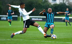 SOUTHAMPTON, ENGLAND - APRIL 13: Tyreke Johnson (right) during the PL2 Match between Fulham FC and Southampton FC on April 12, 2018 in Fulham London, England. (Photo by James Bridle - Southampton FC/Southampton FC via Getty Images)