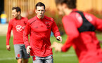 SOUTHAMPTON, ENGLAND - APRIL 17: Pierre-Emile H¿jbjerg (middle) during a Southampton FC training session at Staplewood Complex on April 17, 2018 in Southampton, England. (Photo by James Bridle - Southampton FC/Southampton FC via Getty Images) SOUTHAMPTON, ENGLAND - APRIL 17: Pierre-Emile Højbjerg (middle) during a Southampton FC training session at Staplewood Complex on April 17, 2018 in Southampton, England. (Photo by James Bridle - Southampton FC/Southampton FC via Getty Images)