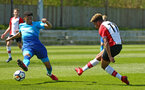 SOUTHAMPTON, ENGLAND - APRIL 18: Enzo Robise (right) during the U18 Premier League match between Southampton FC and Arsenal FC at Staplewood Complex on April 17, 2018 in Southampton, England. (Photo by James Bridle - Southampton FC/Southampton FC via Getty Images)
