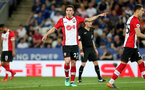 LEICESTER, ENGLAND - APRIL 19: Pierre-Emile Hojbjerg of Southampton during the Premier League match between Leicester City and Southampton at The King Power Stadium on April 19, 2018 in Leicester, England. (Photo by Matt Watson/Southampton FC via Getty Images)