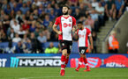 LEICESTER, ENGLAND - APRIL 19: Charlie Austin of Southampton during the Premier League match between Leicester City and Southampton at The King Power Stadium on April 19, 2018 in Leicester, England. (Photo by Matt Watson/Southampton FC via Getty Images)