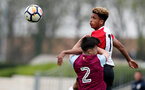 Enzo Robise of Southampton during the U18 premier league match between Southampton and Aston Villa, at the Staplewood Campus, Southampton, 21st April 2018