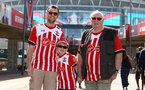 LONDON, ENGLAND - APRIL 22: Southampton FC fans arrive ahead of the Semi Final of the Emirates FA Cup between Southampton FC and Chelsea FC at Wembley Stadium on April 22, 2018 in London, England. (Photo by James Bridle - Southampton FC/Southampton FC via Getty Images)