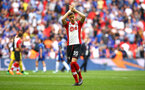 LONDON, ENGLAND - APRIL 22: Jan Bednarek of Southampton FC (middle) after the final whistle is blown for the Semi Final of the Emirates FA Cup between Southampton FC and Chelsea FC at Wembley Stadium on April 22, 2018 in London, England. (Photo by James Bridle - Southampton FC/Southampton FC via Getty Images)