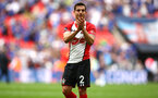 LONDON, ENGLAND - APRIL 22: Cedric of Southampton FC after the final whistle is blown for the Semi Final of the Emirates FA Cup between Southampton FC and Chelsea FC at Wembley Stadium on April 22, 2018 in London, England. (Photo by James Bridle - Southampton FC/Southampton FC via Getty Images)