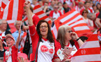 LONDON, ENGLAND - APRIL 22: Saints fans during the Emirates FA Cup Semi-Final between Chelsea and Southampton, at Wembley Stadium on April 22, 2018 in London, England. (Photo by Matt Watson/Southampton FC via Getty Images)