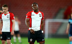 SOUTHAMPTON, ENGLAND - APRIL 23: Michael Obafemi (middle) during the PL2 match between Southampton FC and Middlesbrough FC atSt Mary's Stadium on April 23, 2018 in Southampton, England. (Photo by James Bridle - Southampton FC/Southampton FC via Getty Images)