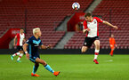SOUTHAMPTON, ENGLAND - APRIL 23: Jake Vokins (right) during the PL2 match between Southampton FC and Middlesbrough FC atSt Mary's Stadium on April 23, 2018 in Southampton, England. (Photo by James Bridle - Southampton FC/Southampton FC via Getty Images)