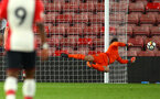 SOUTHAMPTON, ENGLAND - APRIL 23: Jack Rose (right) makes a save the PL2 match between Southampton FC and Middlesbrough FC atSt Mary's Stadium on April 23, 2018 in Southampton, England. (Photo by James Bridle - Southampton FC/Southampton FC via Getty Images)
