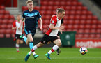 SOUTHAMPTON, ENGLAND - APRIL 23: Jake Heketh (Middle) during the PL2 match between Southampton FC and Middlesbrough FC atSt Mary's Stadium on April 23, 2018 in Southampton, England. (Photo by James Bridle - Southampton FC/Southampton FC via Getty Images)
