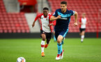 SOUTHAMPTON, ENGLAND - APRIL 23: Nathan Tella (left) during the PL2 match between Southampton FC and Middlesbrough FC atSt Mary's Stadium on April 23, 2018 in Southampton, England. (Photo by James Bridle - Southampton FC/Southampton FC via Getty Images)
