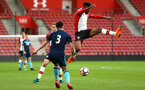 SOUTHAMPTON, ENGLAND - APRIL 23: Nathan Tella (right) during the PL2 match between Southampton FC and Middlesbrough FC atSt Mary's Stadium on April 23, 2018 in Southampton, England. (Photo by James Bridle - Southampton FC/Southampton FC via Getty Images)