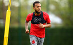 SOUTHAMPTON, ENGLAND - APRIL 24: Ryan Bertrand (Middle) during an open training session with Southampton FC at Staplewood Complex on April 24, 2018 in Southampton, England. (Photo by James Bridle - Southampton FC/Southampton FC via Getty Images)