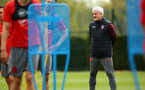 SOUTHAMPTON, ENGLAND - APRIL 24: Mark Hughes (right) during an open training session with Southampton FC at Staplewood Complex on April 24, 2018 in Southampton, England. (Photo by James Bridle - Southampton FC/Southampton FC via Getty Images)