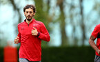 SOUTHAMPTON, ENGLAND - APRIL 24: Manolo Gabbiadini during an open training session with Southampton FC at Staplewood Complex on April 24, 2018 in Southampton, England. (Photo by James Bridle - Southampton FC/Southampton FC via Getty Images)