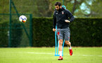 SOUTHAMPTON, ENGLAND - APRIL 26: Charlie Austin during a Southampton FC training session at Staplewood Complex on April 26, 2018 in Southampton, England. (Photo by James Bridle - Southampton FC/Southampton FC via Getty Images)